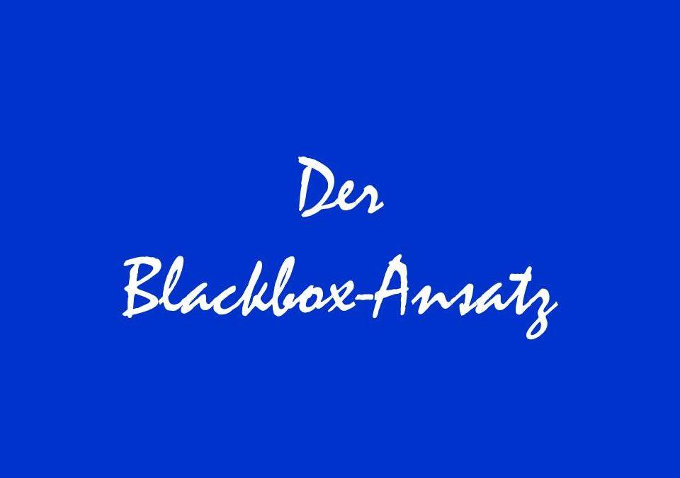 Der Blackbox-Ansatz für Ihr Leben
